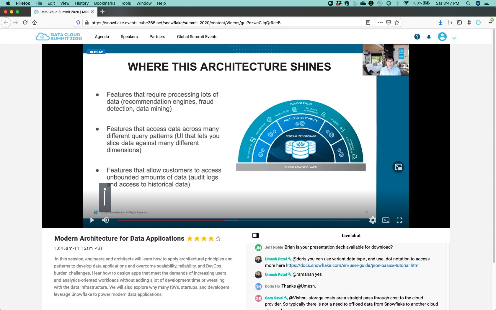 Modern Architecture Data Applications
