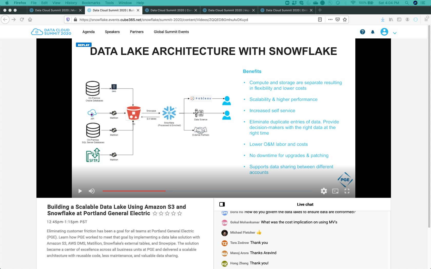 Building Scalable Data Lake On Snowflake Pge